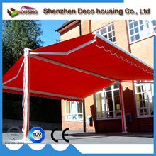 Best quality restaurant outdoor awning outdoor/garden patio retractable roof easy to install shades free standing balcony