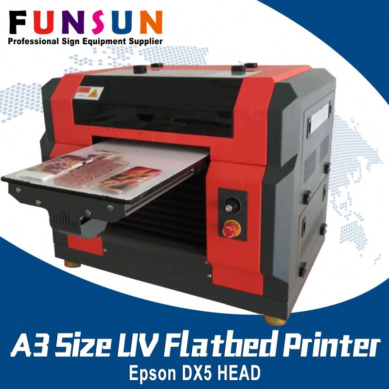 Funsunjet A3 Size DX5 Head brother textile printer UV printer