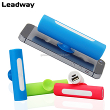 Fashion colorful Low price unique suction cup phone holder Power Bank 2600mah