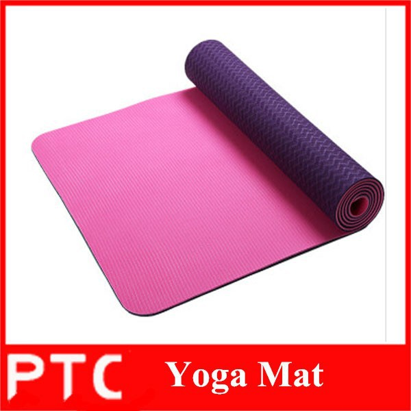 eco friendly TPE two layer two color TPE yoga mat