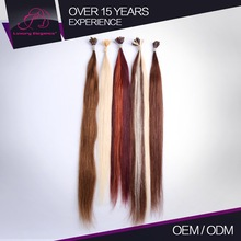 Charming Tangle Free 100% Remy Human Hair Double Drawn Prebonded Hair Extension