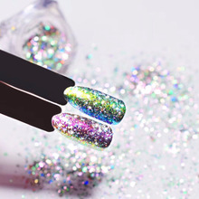 Transparent Chameleon Flakes Dust Decorations Nail