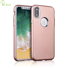 Metal Spraying Texture Soft TPU Bumper Back Case For iPhone X , Matte Soft Cover Case For iPhone X
