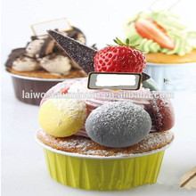 Small Aluminum Ice Cream Cup colorful foil container with plastic cover bread loaf pans