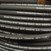 "CE Proved SAE 100r1at 1 1/4"" High Pressure Hydraulic Rubber Hose with One Wire Braided"