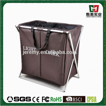 Hot Sell Hign Quality two parts foldable laundry basket