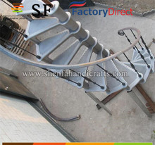 outdoor steel spiral stairs, cast iron spiral staircase