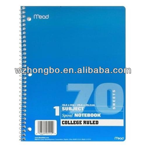blue college ruled notebook/spiral notebook/composition notebook