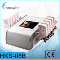 Portable touch screen lipolaser slimming machine with 10 paddles lipo laser
