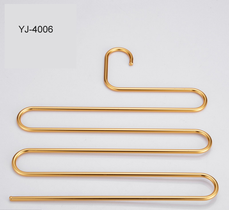 Anti-Slip Space -saving Aluminium Pants Hanger