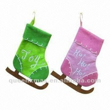 Felt Skate Boot Kids Christmas Socks