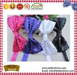 Wholesale cheap sequins bow tie for dog