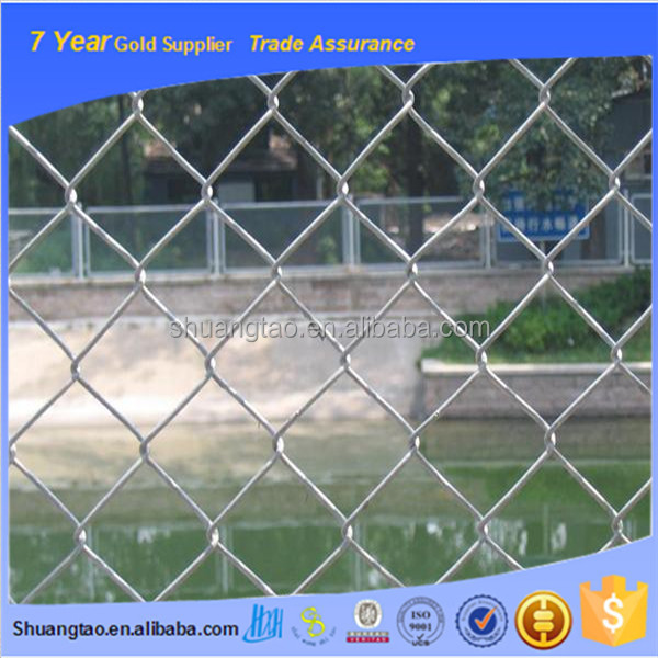 Professional production galvanized chain link fence & chain link fence panles with garden fence