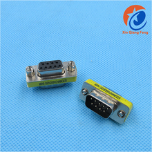 RS-232 DB9 Male to Female Mini Gender Changer Adapter Connector