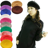 Cheap Custom Plain Dyed Military Beret Cap For Wholesale