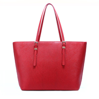 Women PU leather shopper tote handbag, lady shoulder totebag
