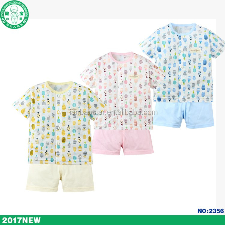 2017 new design unisex baby clothing set for baby boy and baby girl with soft cotton