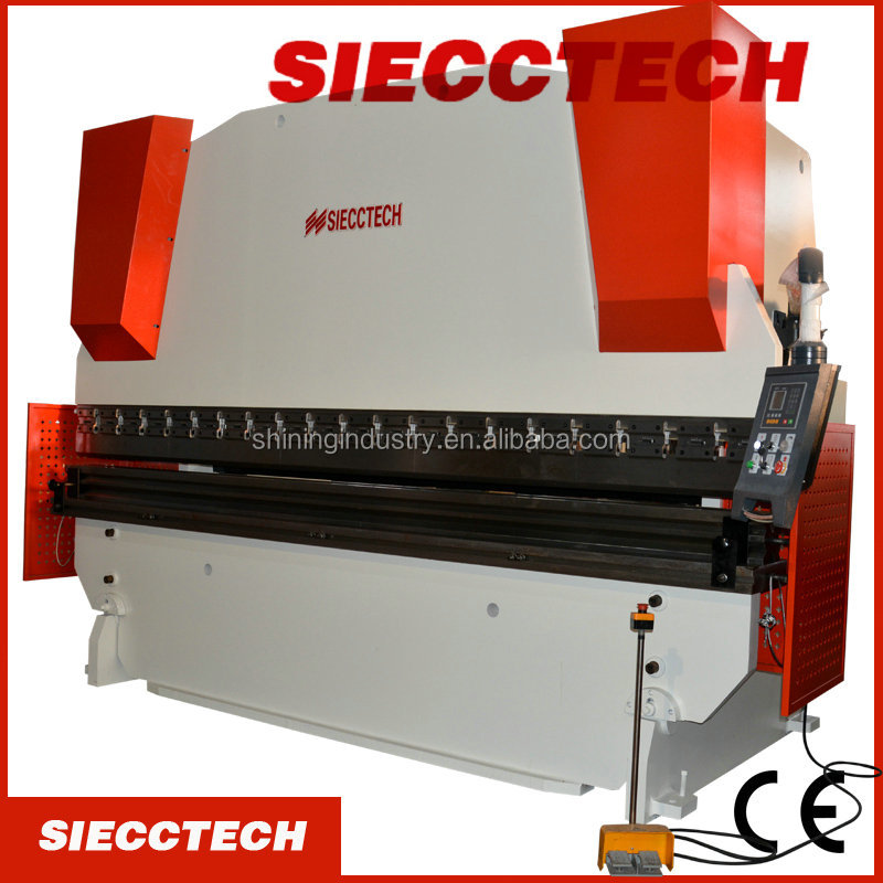 Electro-Hydraulic synchronous CNC Press Brake,WE67K 200t/3200 YSD bending machine