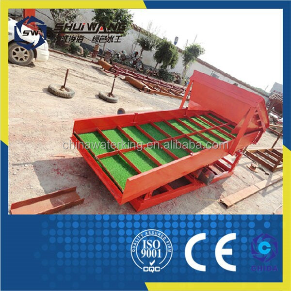 High recovery shaking table equipment for gold panning /separation