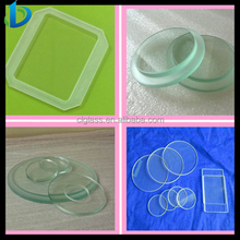1-6mm Lighting glass,tempered light glass lens,round glass light cover