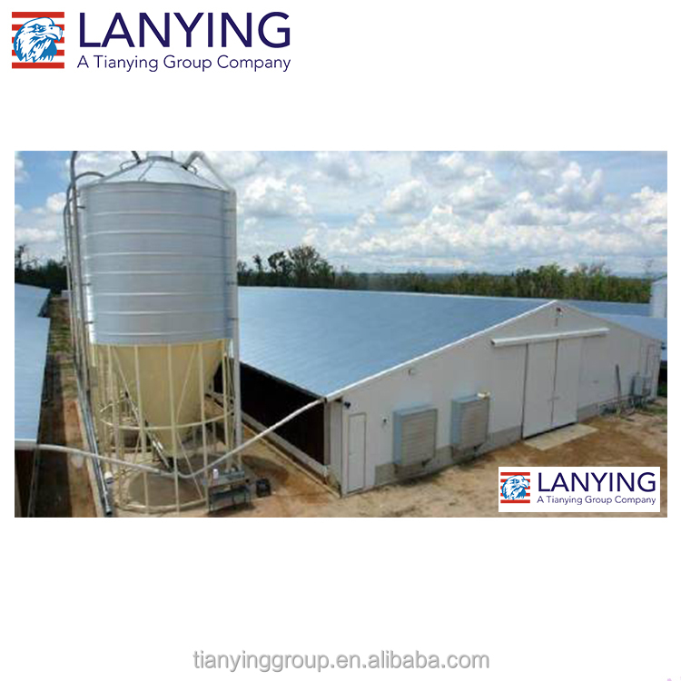Fabric cover structure modern prefabricated steel structure building mechanized poultry farming