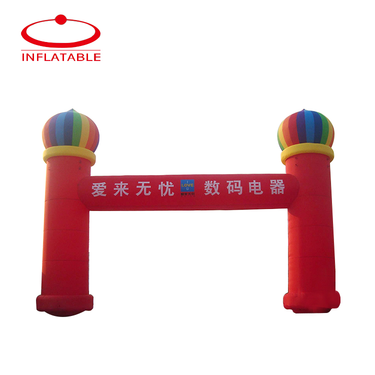 China Style Red Durable Inflatable Archway For Sales Promotion