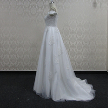 Lace tulle fabrics nice design custom wedding gowns for fat bride
