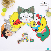 New product promotional gift summer plastic cool hand adversting small fan with cartoon picture