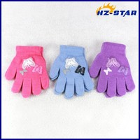 HZS-13236007 the newest cute and fashion winter best bike screen print butterfly brand beautiful girls magic glove