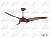 East Fan 52inch Three Blade Indoor DC Ceiling Fan with light modern ceiling fan item EF52147