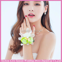 WS0007 flower charm cuff bracelet ring set fashion bangle wristband royal accessories female jewelry