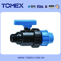 21103 High quality&Competitive price Diversified Sizes PP Male Single Union Ball valve
