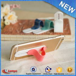 Gadgets 2016 Newest Wholesale Custom Logo Printing Silicone Phone Holder CE RoHS