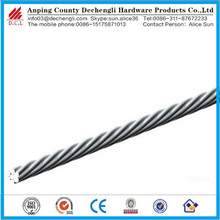 1x7 galvanized steel wire rope, steel cable