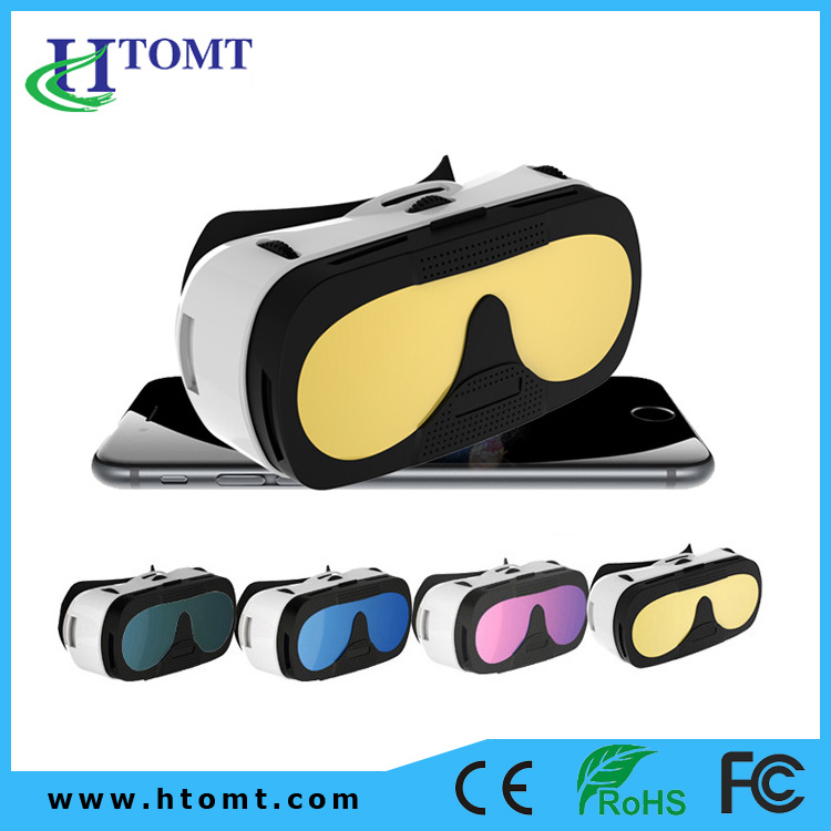 "3D virtual video glasses Support 3.5""-6.0"" Phones High Quality Environmental ABS Plastic VR Box 3D Glasses"