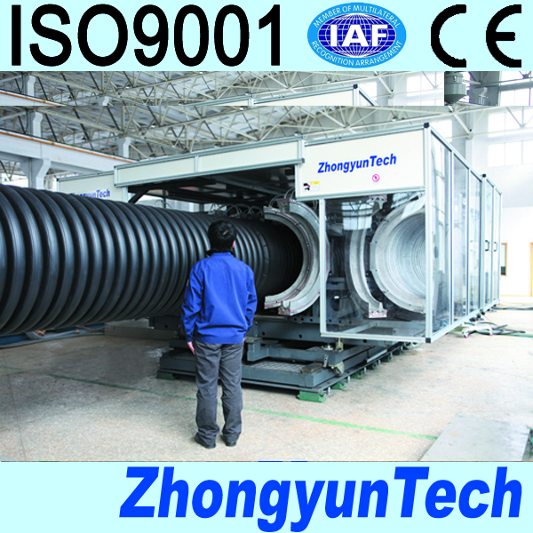 PP/PE/PVC corrugated pipe plastic extruder production line