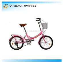 "20"" high-ten steel V-brake factory outlets folding bicycle/folding bicycle made in china"