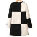 Fashion simple style contrast color office dresses plus size