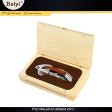 Durable Easy-To-Use Wholesale Multifunction Custom Wooden Wine Gift Box Opener/ Corkscrew