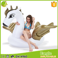 Giant Inflatable Pegasus Pool Float with Rapid Valves large gold Pegasus Water Pool Floats