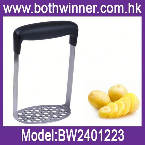 Stainless steel kitchen utensils potato masher ,h0tvKW food grade stainless steel potato masher for sale