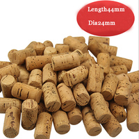 Length 44 Dia24mm Winery Grade Natural Cork Stopper,Straight Round Wine Cork Stopper Plug