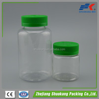 Cylindrical PET Pharmaceutical plastic packaging bottle 300ml, 300cc medicine pill capsule bottle