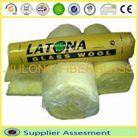 glasswool roll with PE package polyester fiberglasswoool wall covering