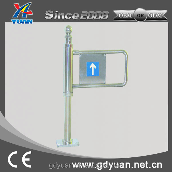304 stainless steel bi direction manual swing barrier gate price