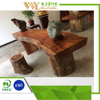 Solid Acacia Wood Dining Table Top Slabs/tables/tops/bar stools, one thick Acacia wood slab