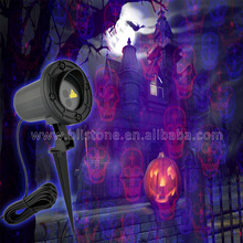 Cast Aluminium Laser Halloween Light with RF Wireless Remote Contol, Laser Star Projector show for Halloween, Christmas,Party