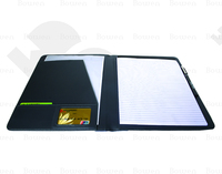 custom smooth pu leather portfolio with smooth coat of paint