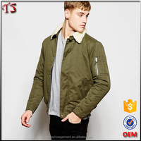 Clothing factories in china khaki custom bomber jackets wholesale men winter jacket