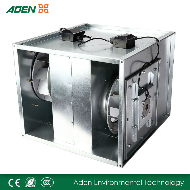 Retroverted impeller duct fan industrial ventilation system